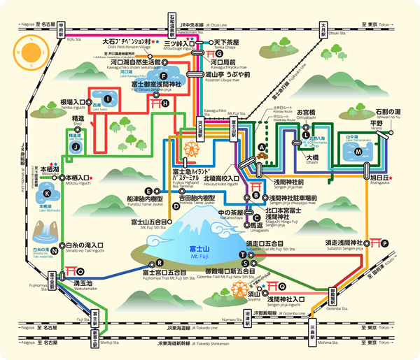 Take a bus trip using route guidesFUJISANWATCHER