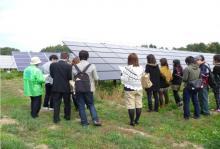 北杜サイト太陽光発電所見学